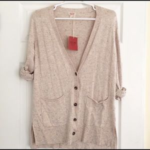 Mossimo supply co oatmeal speckled long cardigan M